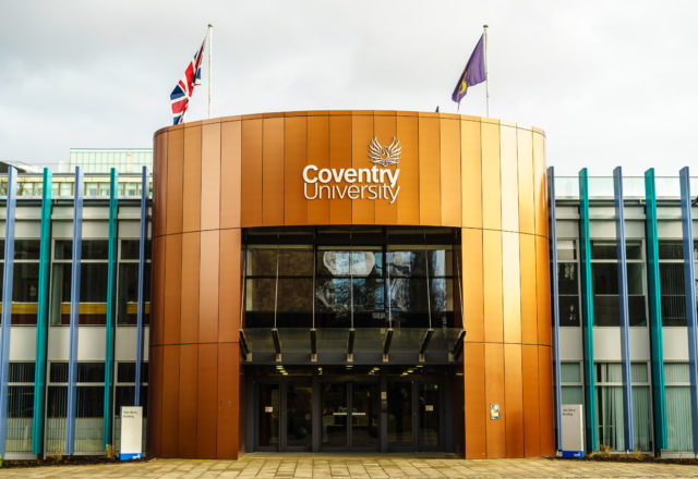 Coventry, UK - January 28, 2017 : University of Coventry in UK