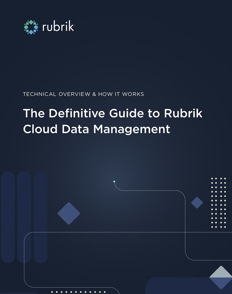 Definitive Guide to Rubrik Cloud Data Management Cover